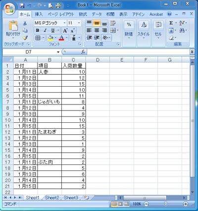 すきま表1