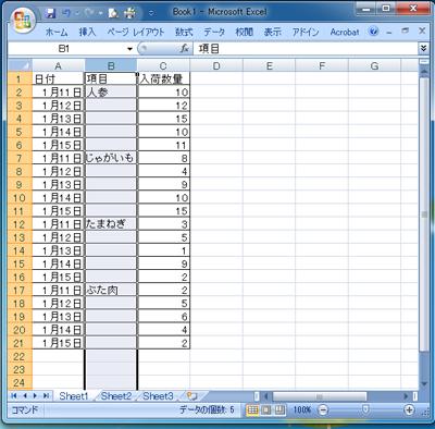 すきま表2
